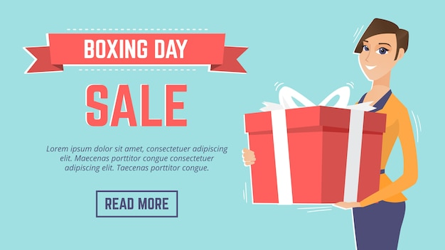 Boxing day sale event webseite vorlage.