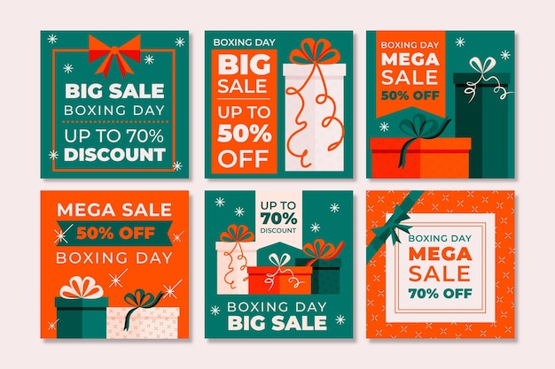 Boxing day sale instagram beiträge pack