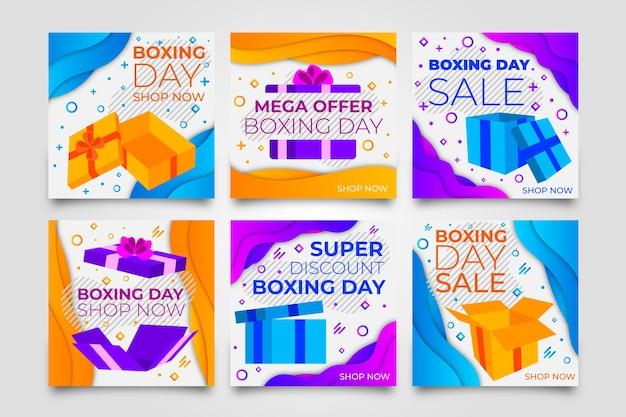 Boxing day sale instagram beitragssammlung