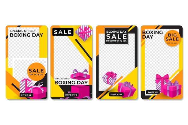 Boxing day sale instagram geschichte sammlung