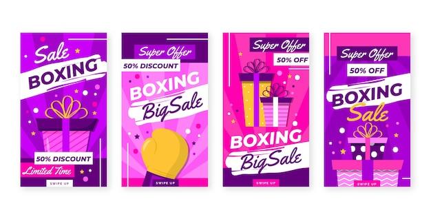 Boxing day sale instagram geschichten sammlung