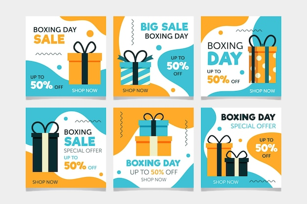 Boxing day sale instagram post sammlung
