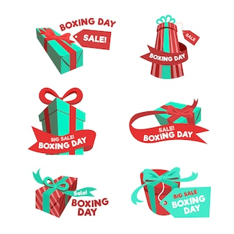 Boxing day sale label kollektion im falt design