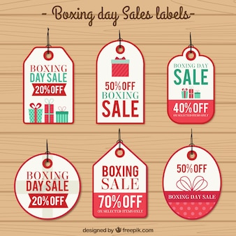 Boxing day sales etiketten