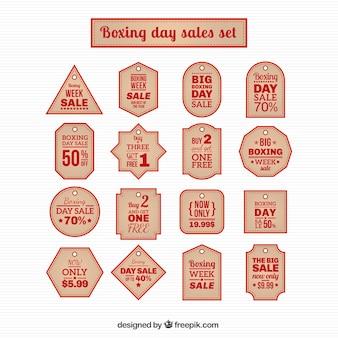 Boxing day sales etiketten