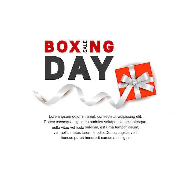 Boxing day-vektordesign für verkaufsfahnenschablone
