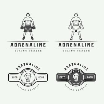 Boxing logo abzeichen