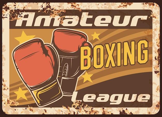Boxing metallplatte rostig