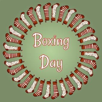 Boxing-tag-strümpfe kranz