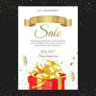 Boxtag mit geschenk und bändern