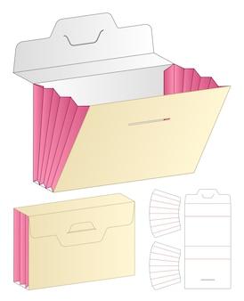 Boxverpackung gestanzte schablonendesign