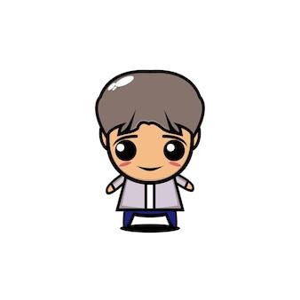 Boy band nette zeichentrickfigur illustration person