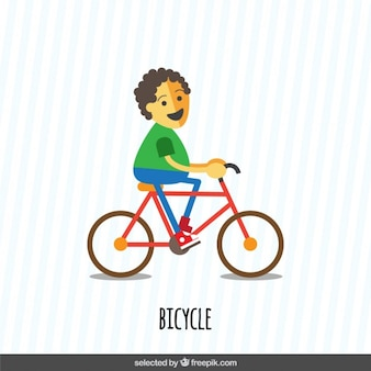 Boy mit dem fahrrad