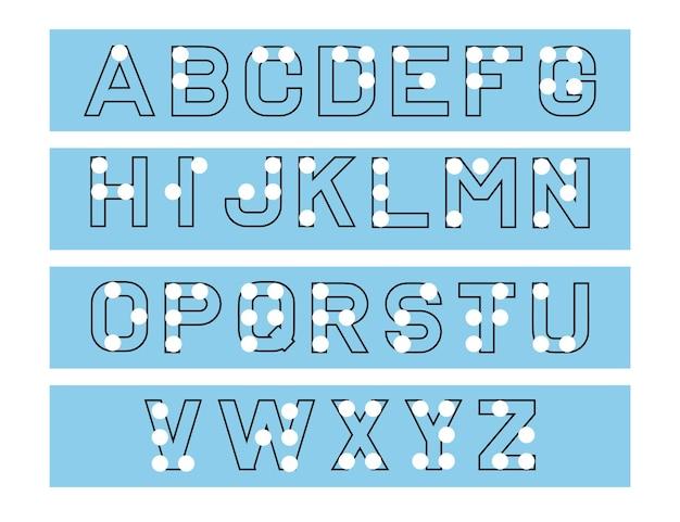 Braille-alphabet. tabelle für alphabetbildung, lernen. abc für sehbehinderte blinde menschen. tabelle für alphabetbildung, lernen.
