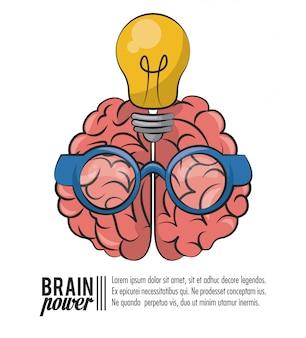 Brain power template poster mit informationen
