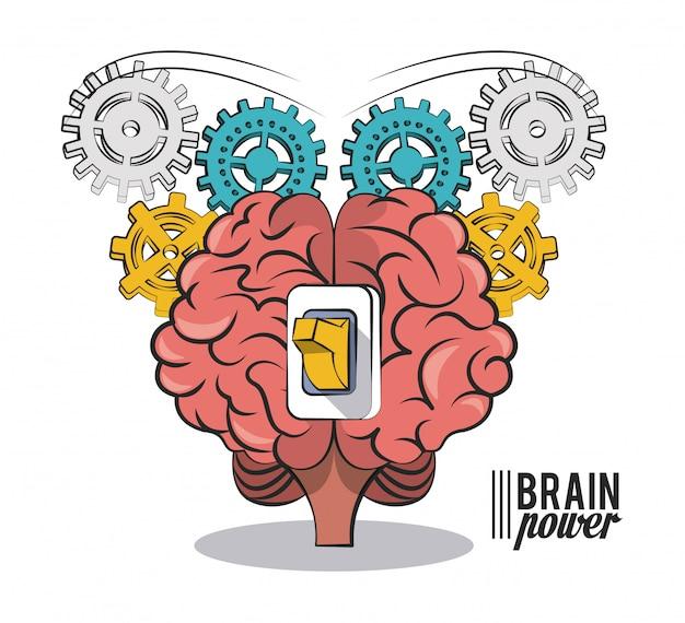 Brain power und zahnräder