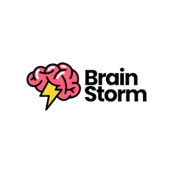 Brainstorm intelligente idee kreativ denken logo vektor icon illustration