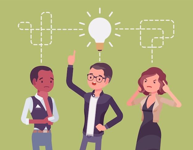 Brainstorming des startup-business-teams