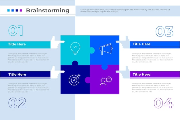 Brainstorming-infografik-vorlage