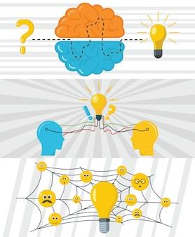 Brainstorming kreativer hintergrund