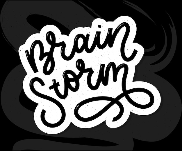 Brainstorming-schriftzug