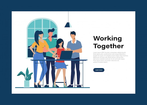 Brainstorming-teamwork-charakterkollegen-seminartreffen im büro.