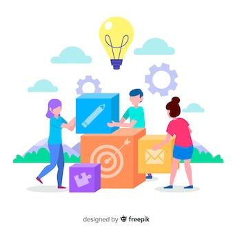 Brainstorming-zielseitenkonzept