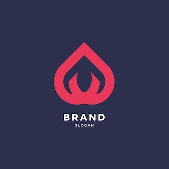 Brand flamme logo design-vorlage