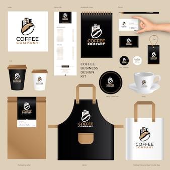 Brand identity vorlagen für kaffeeunternehmen
