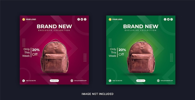 Brand new bags collection instagram banner post template