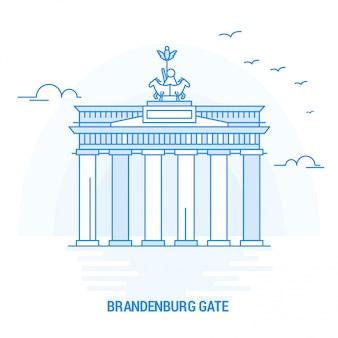 Brandenburger tor blaue wahrzeichen
