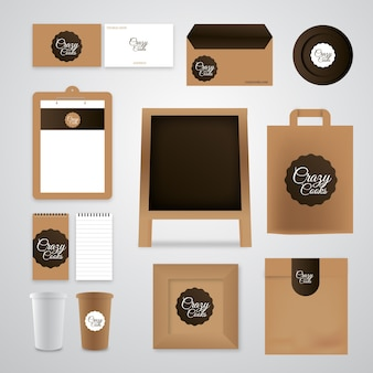Branding identität mock-up-set