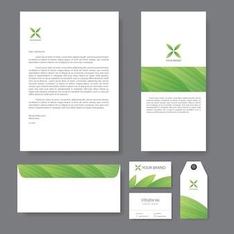 Branding-identitätsvorlage unternehmen design