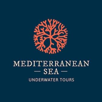 Branding-logo-illustration von korallen