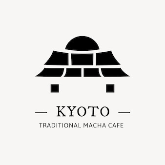 Branding-logo-vektor-illustration des japanischen tors