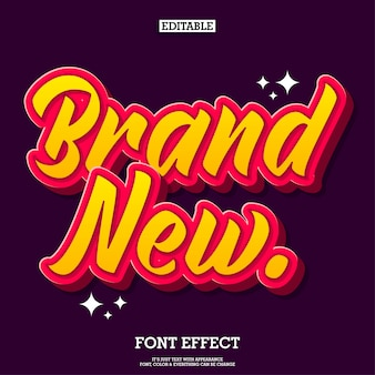 Brandneuer cartoon-text-effekt für logo- und titelgestaltung