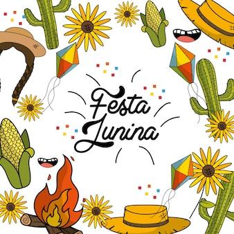 Brasilianische dinge feiern festa junina