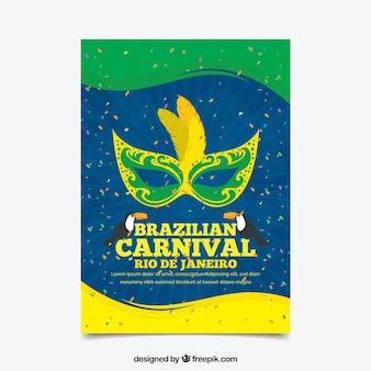 Brasilianische karneval poster vorlage