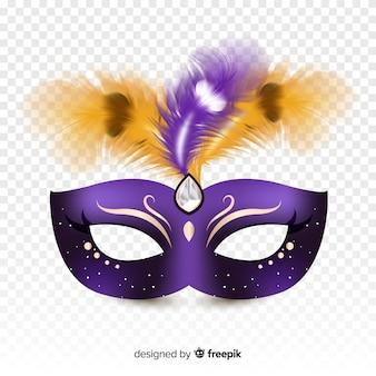 Brasilianische karneval realistische maske