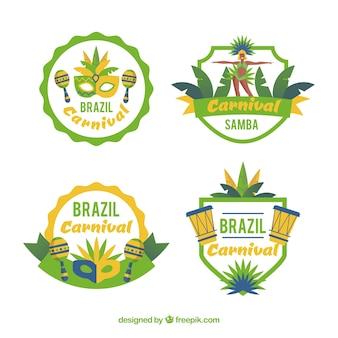 Brasilianische karnevalsabzeichen