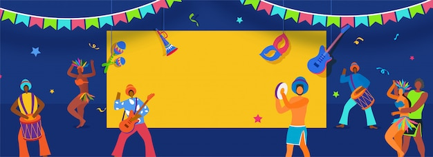 Brasilianische karnevalsfahne.
