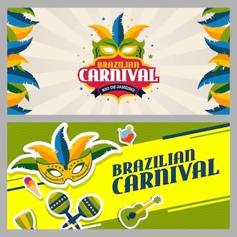 Brasilianische karnevalsfahnenschablone