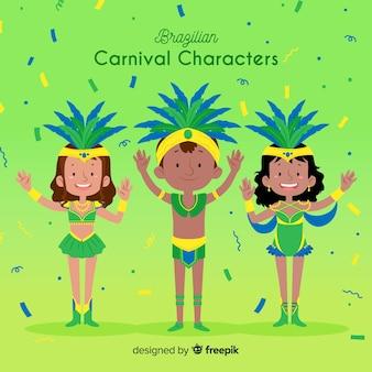 Brasilianische karnevalsfiguren
