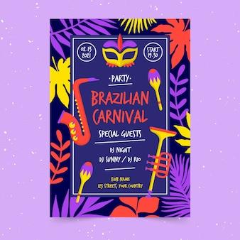 Brasilianische karnevalsfliegervorlage