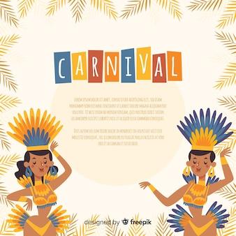 Brasilianische karnevalshintergrundschablone