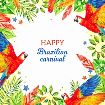 Brasilianische karnevalsillustration des aquarells