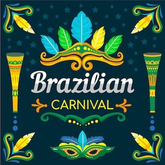 Brasilianische karnevalsillustrationen handgezeichnet