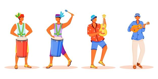 Brasilianische karnevalsmusiker setzen