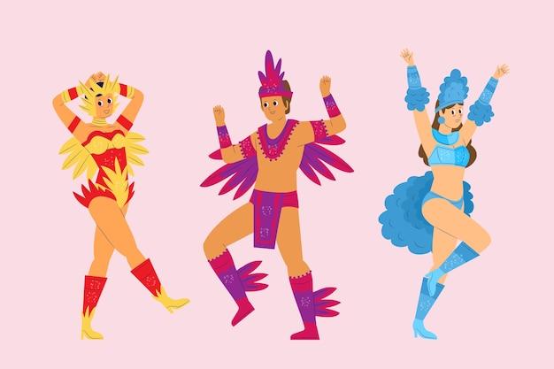 Brasilianische karnevalssammlung der tanzfläche