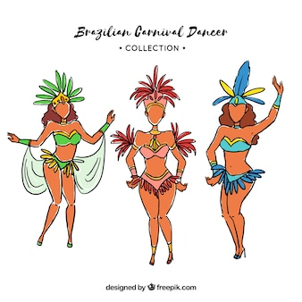 Brasilianische karnevalstänzer eingestellt